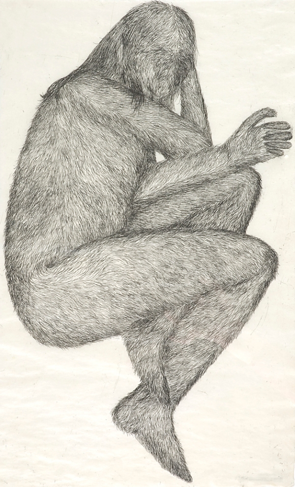 Lay, hardground etching on gapi paper, 2008