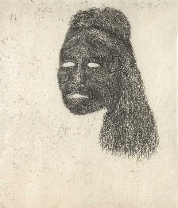 head 1800, hardground etching and drypoint on gapi, 2008