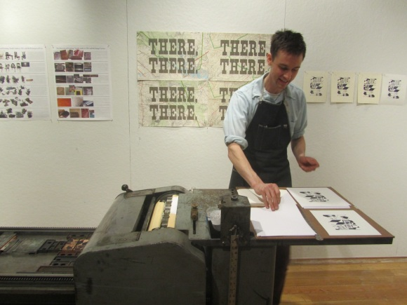 Ali Printing on Vandercook